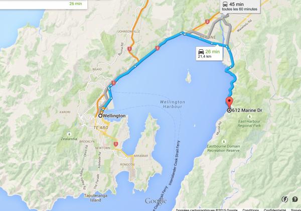 plan du bord de mer où se situe le restaurant