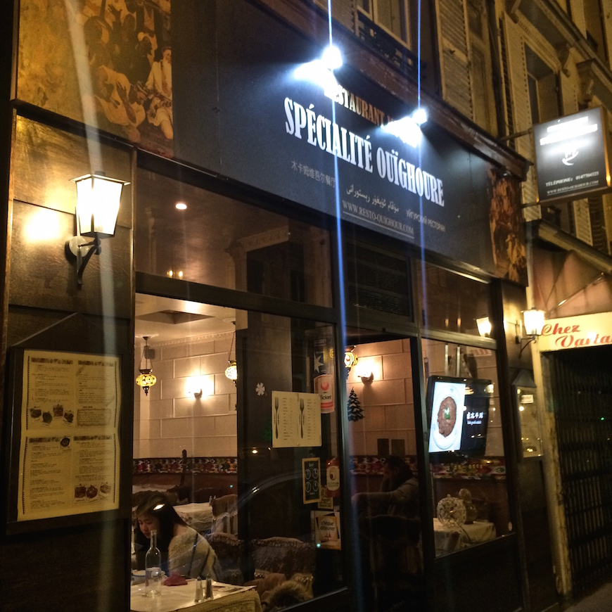 Restaurant Ouighour Rue Trevise