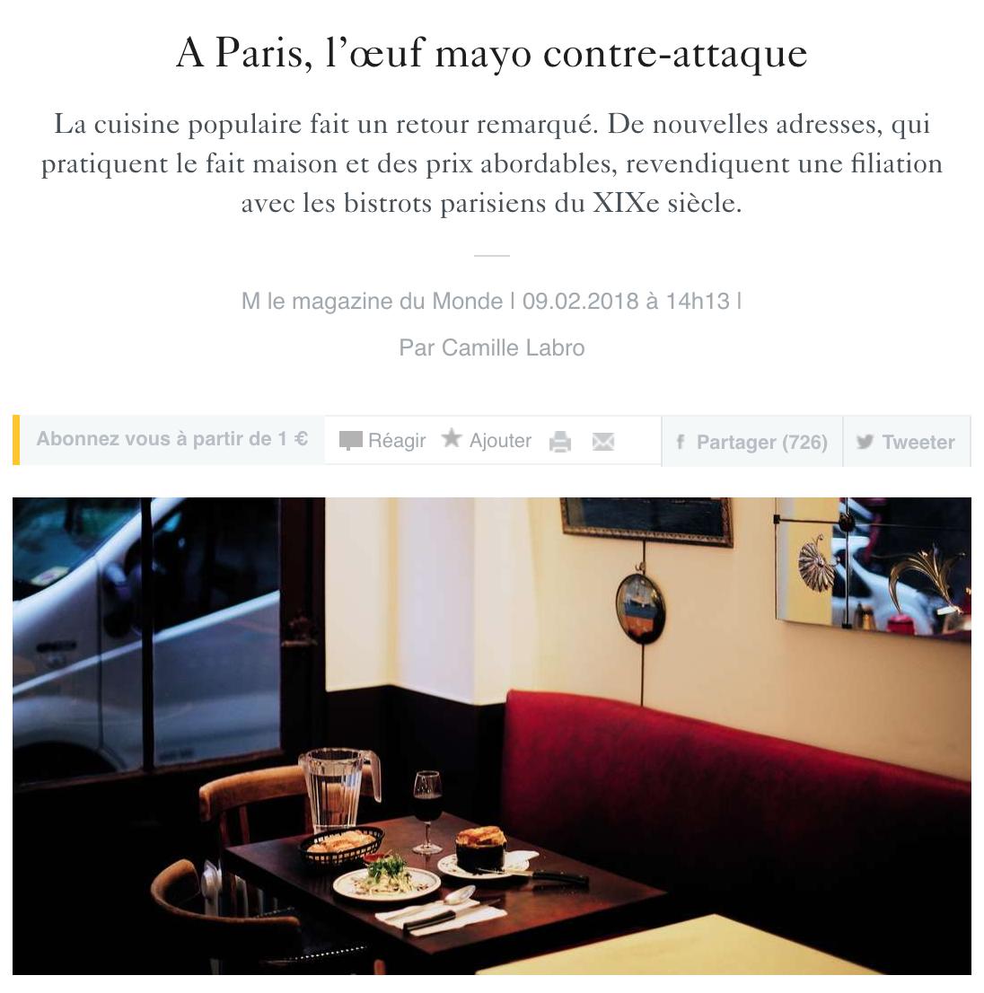 Le Monde - Camille Labro
