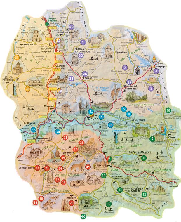 Carte Lozère